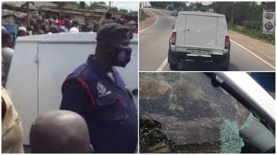 Armed robbers hit another bullion van on Kasoa-Winneba road; video drops [watch]